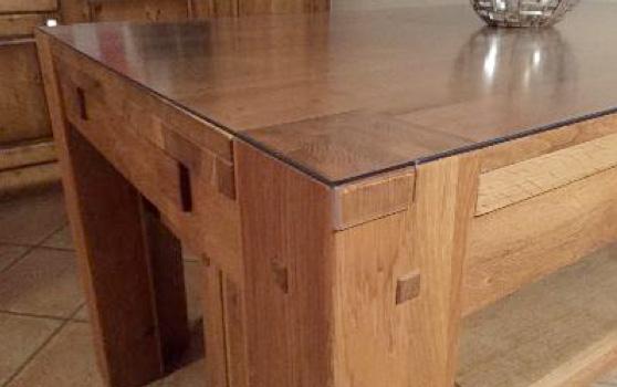 Protection de table covrato harlor - Nappe transparente pour table en verre ...