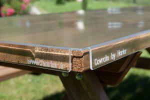 protection de table rigide sur mesure en plexi harlor. Black Bedroom Furniture Sets. Home Design Ideas