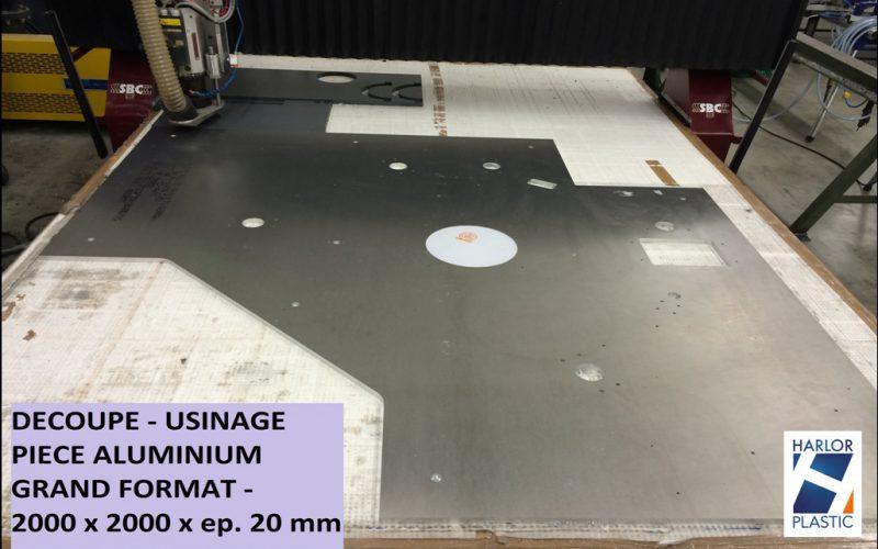Usinage pièce aluminium grandes dimensions