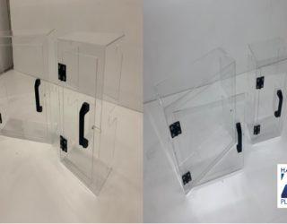 Carters et capots de protection en Polycarbonate avec porte amovible