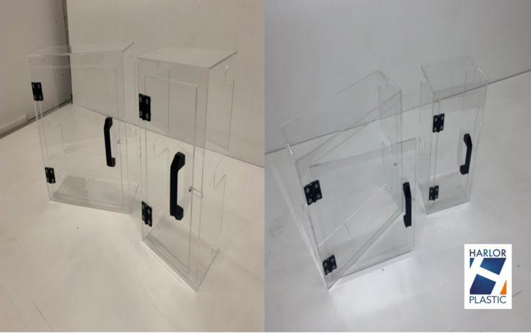 Carter et capot de protection en Polycarbonate avec porte amovible