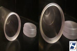 Tube et bouchons en polycarbonate
