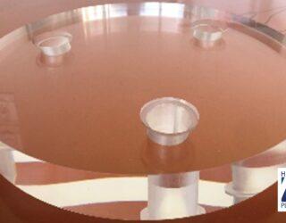 Usinage de disque et de plateau en PMMA