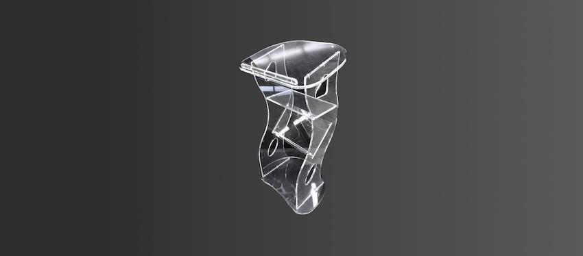 Pupitres plexiglass sur-mesure