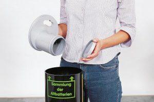 Réservoir pour piles lithium usagées