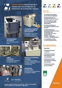 Harlor plastic réalise et installe des cuves sur mesures pour les entreprises de traitement de surface des métaux