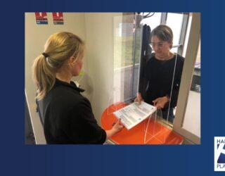 Hygiaphone pour les élections et les bureaux de vote