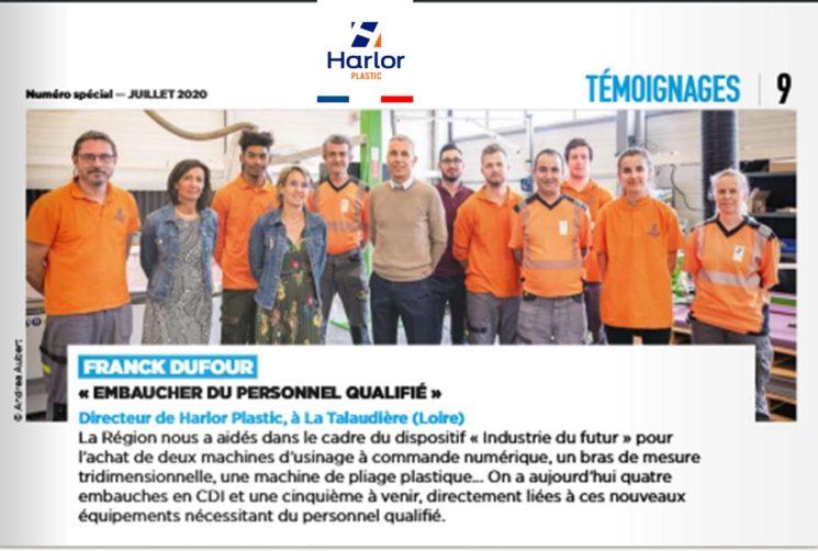 HARLOR PLASTIC NOUVEL ARTICLE DE PRESSE